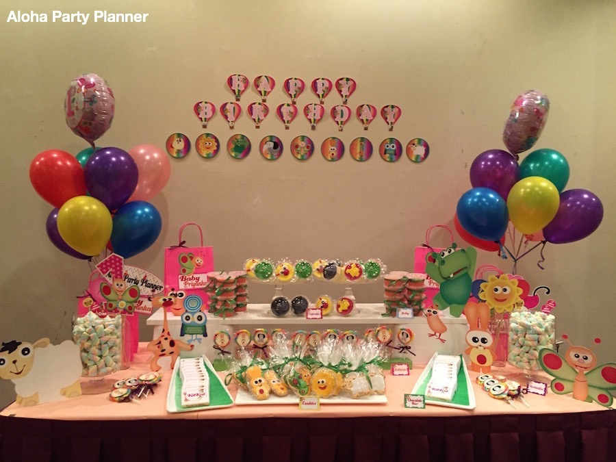 Baby Tv Themed Birthday Party Dessert Table Aloha Party Planner